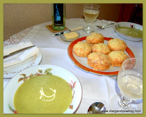 pea-soup-and-cheese-scones-on-table-in-kitchen1-001